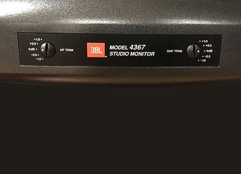 JBL 4367 Studio Monitor Loudspeaker Trim Controls