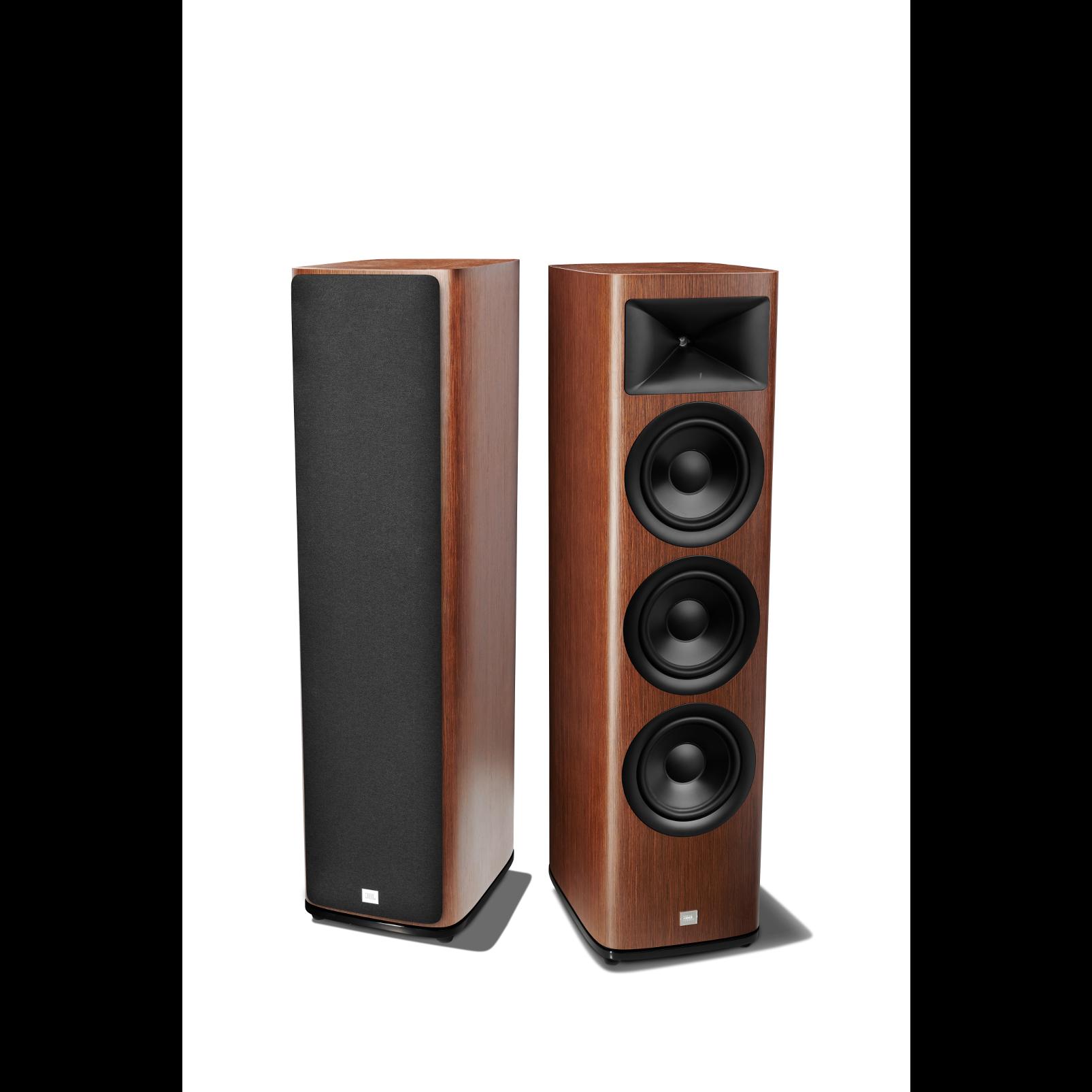 HDI-3800 - Walnut - 2 ½-way Triple 8-inch (200mm) Floorstanding Loudspeaker - Detailshot 1