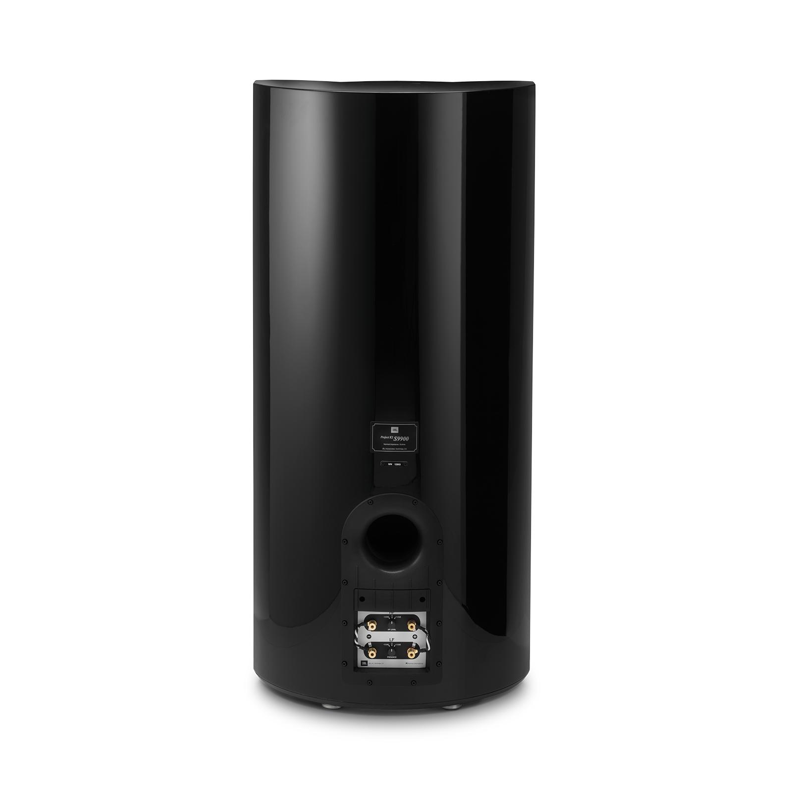 "K2 S9900 - Black Gloss - 3-way 15"" (380mm) Floorstanding Loudspeaker - Back"