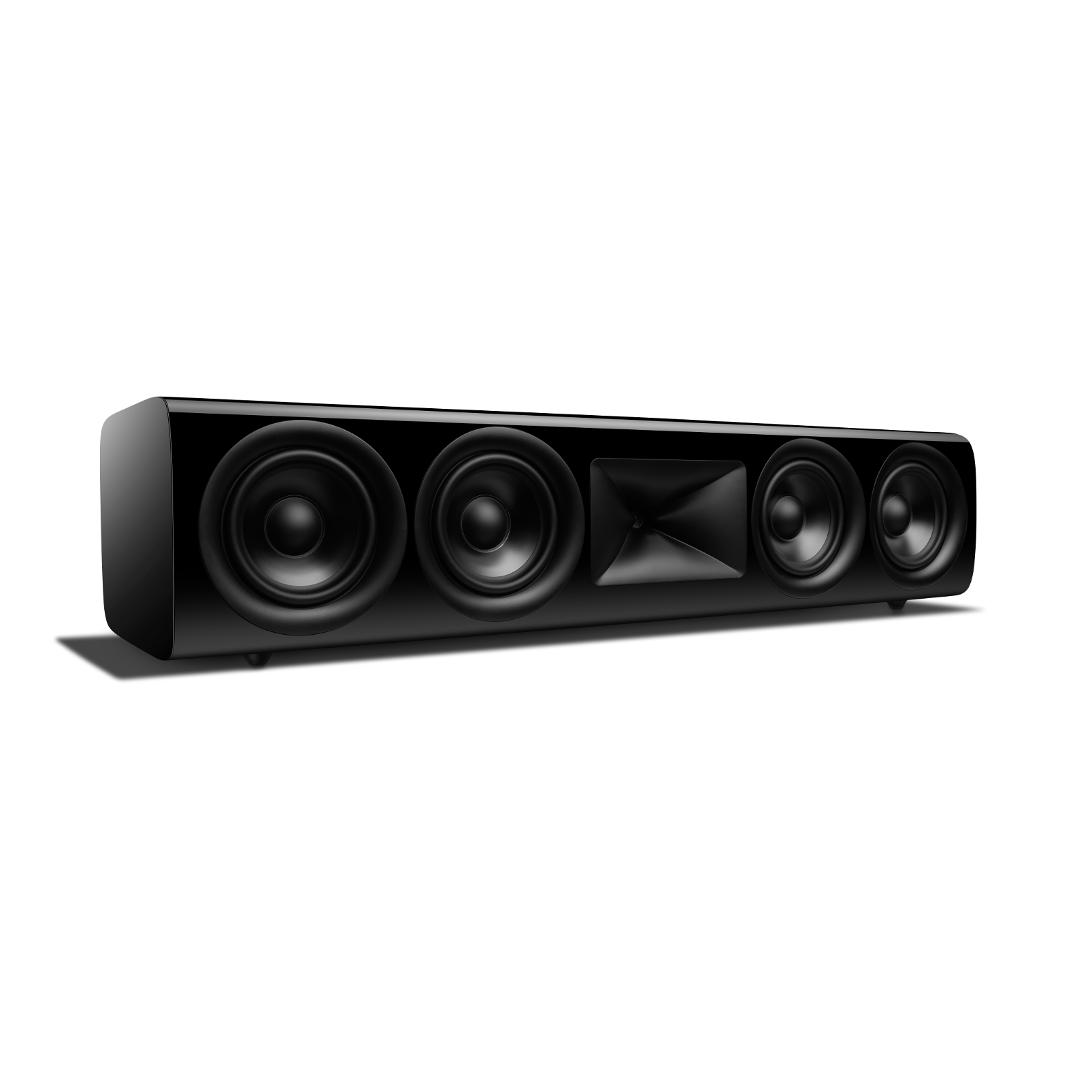 HDI-4500 - Black Gloss - 2 ½-way Quadruple 5.25-inch (130mm) Center Channel Loudspeaker - Left