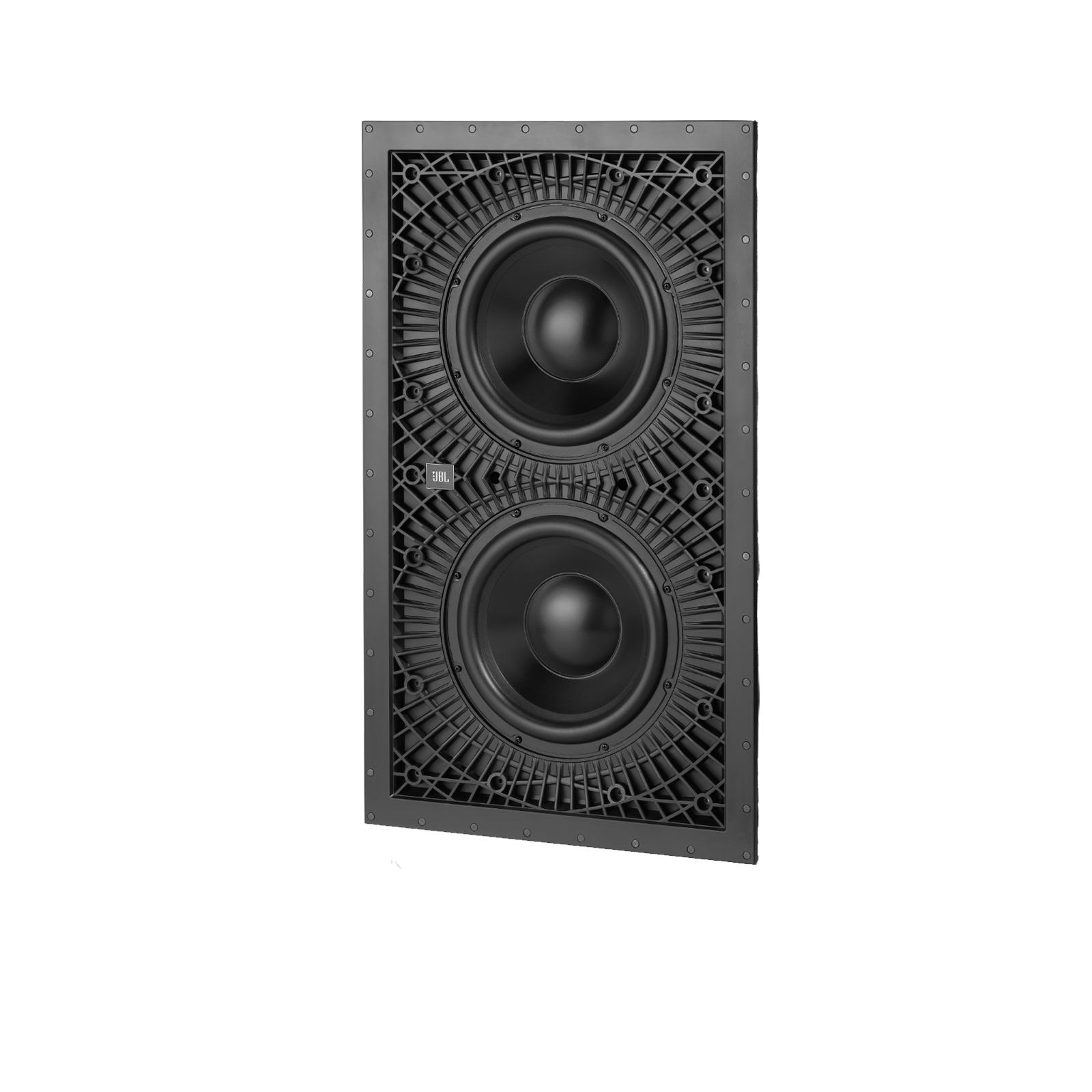 "SSW-3 - Black - Dual 10"" (250mm) In-wall Passive Subwoofer - Front"