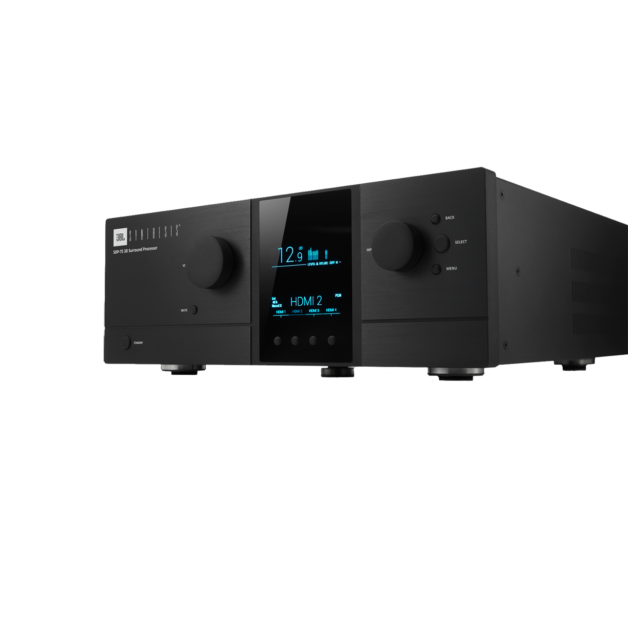 SDP-75 - Black - Luxury Home Cinema Processor Driven by 3D Audio and 4K Ultra HD - Hero