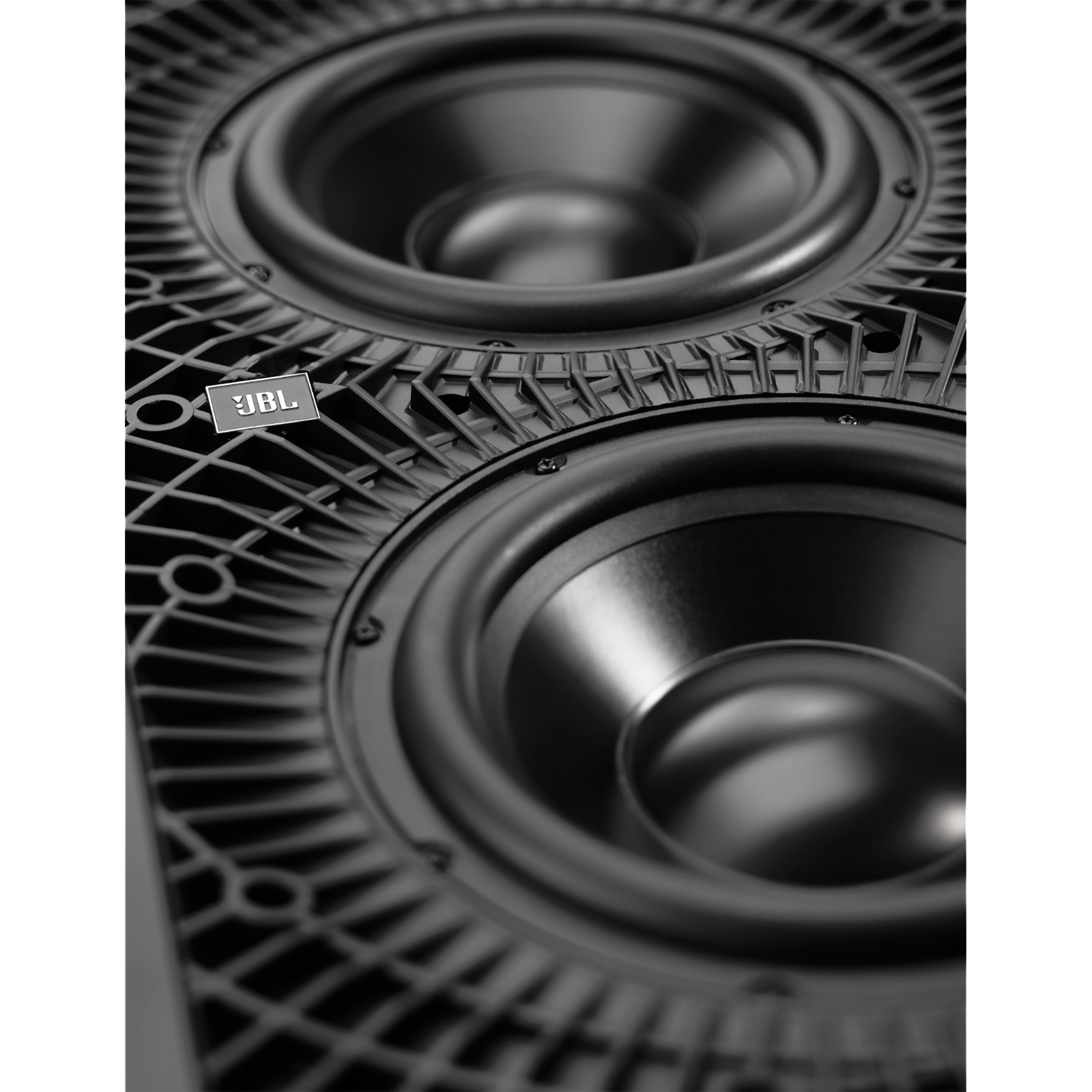 "SSW-3 - Black - Dual 10"" (250mm) In-wall Passive Subwoofer - Detailshot 2"