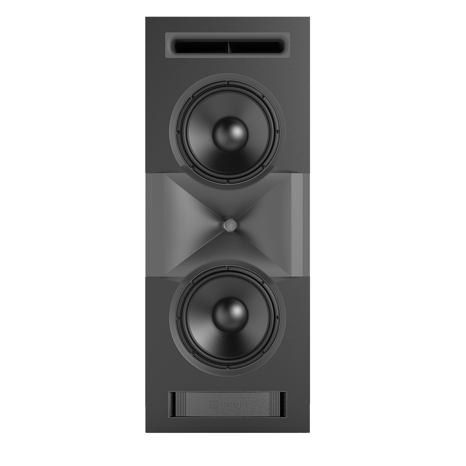SCL-1 - Black - 2-Way Dual 12-inch (300mm) Custom LCR Loudspeaker - Front