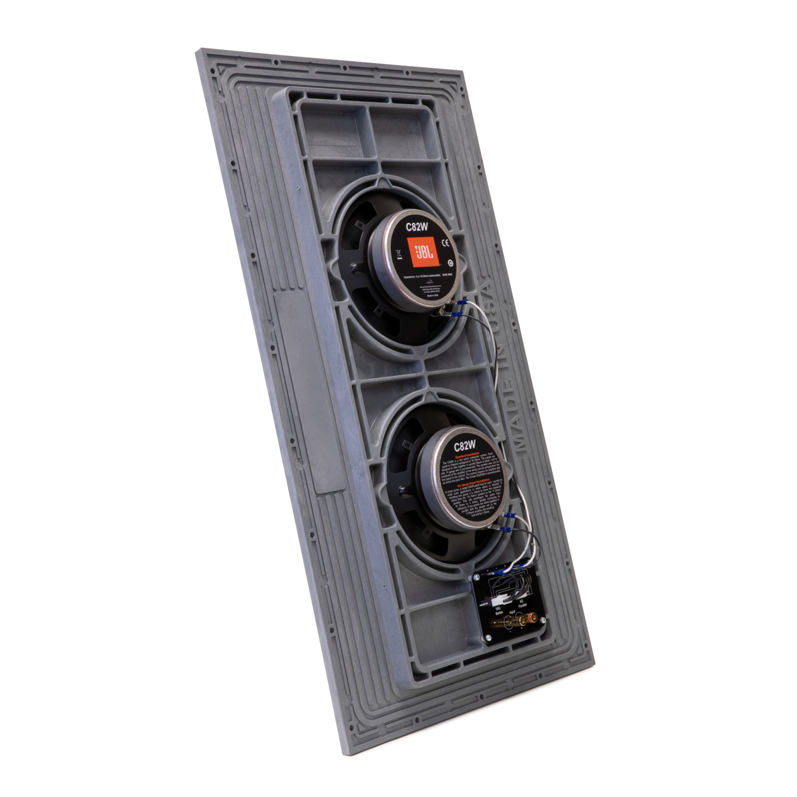 Conceal C82W - Grey - Dual-panel, Dual 8-inch (200mm) Invisible Subwoofer System - Detailshot 1