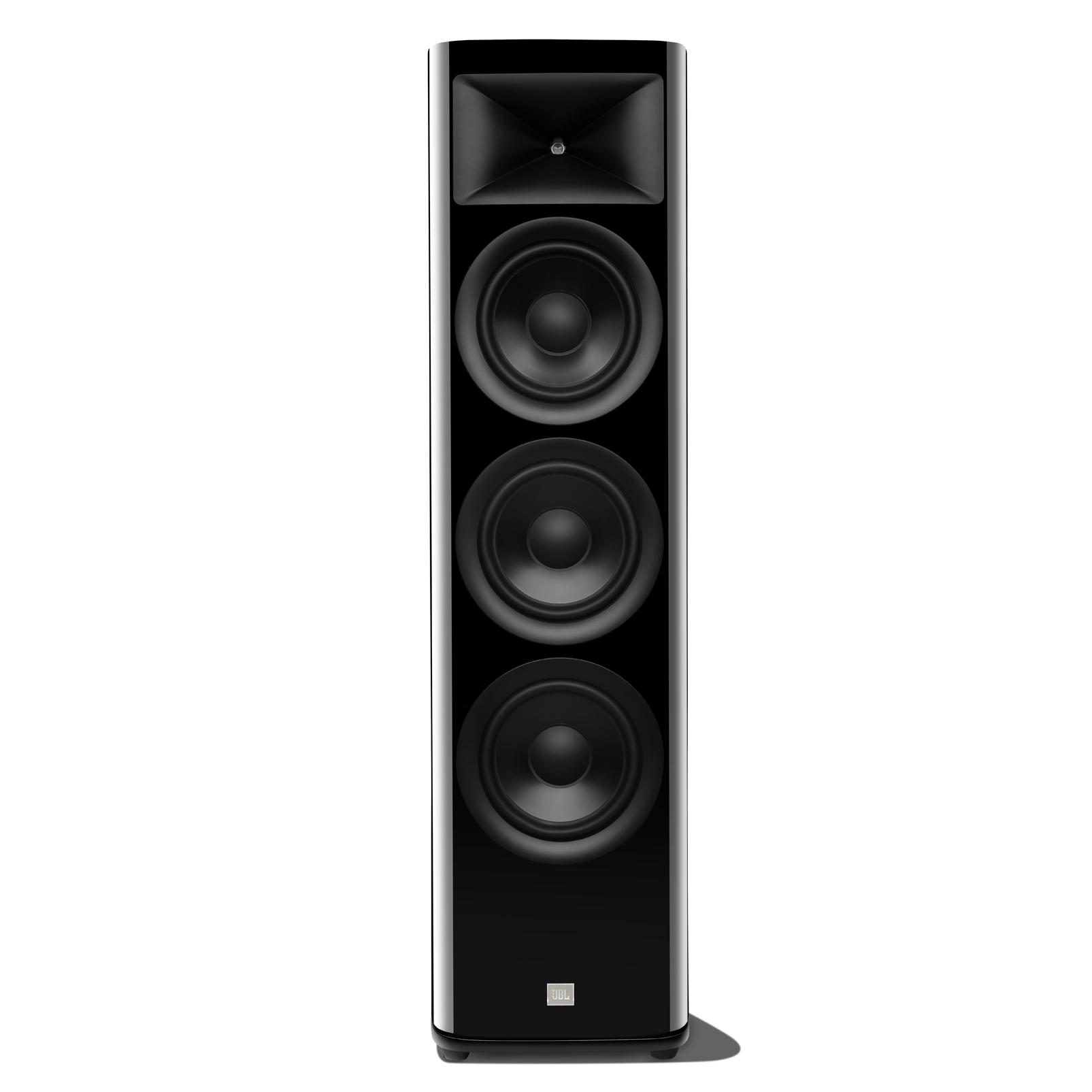 HDI-3800 - Black Gloss - 2 ½-way Triple 8-inch (200mm) Floorstanding Loudspeaker - Hero