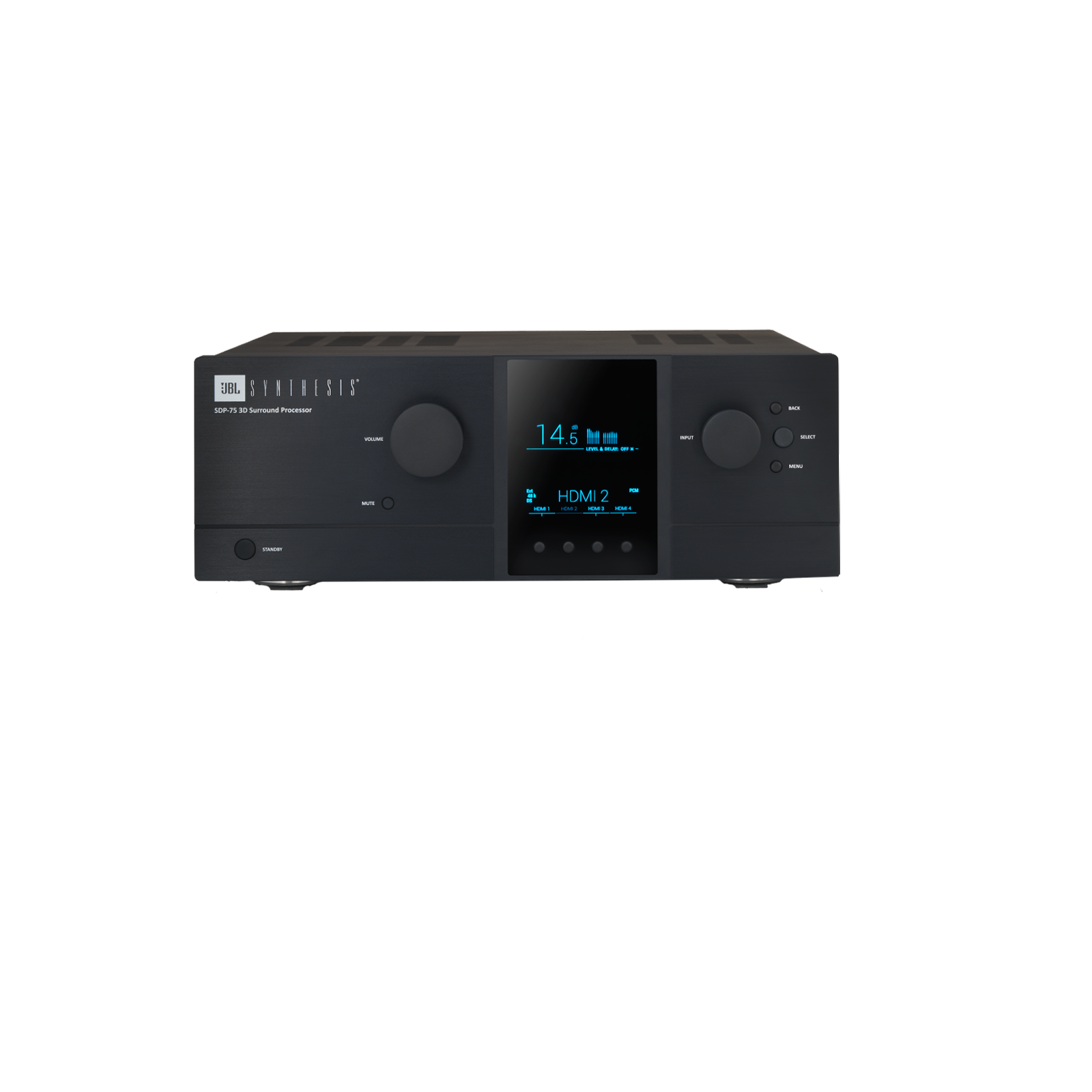 SDP-75 - Black - Luxury Home Cinema Processor Driven by 3D Audio and 4K Ultra HD - Front