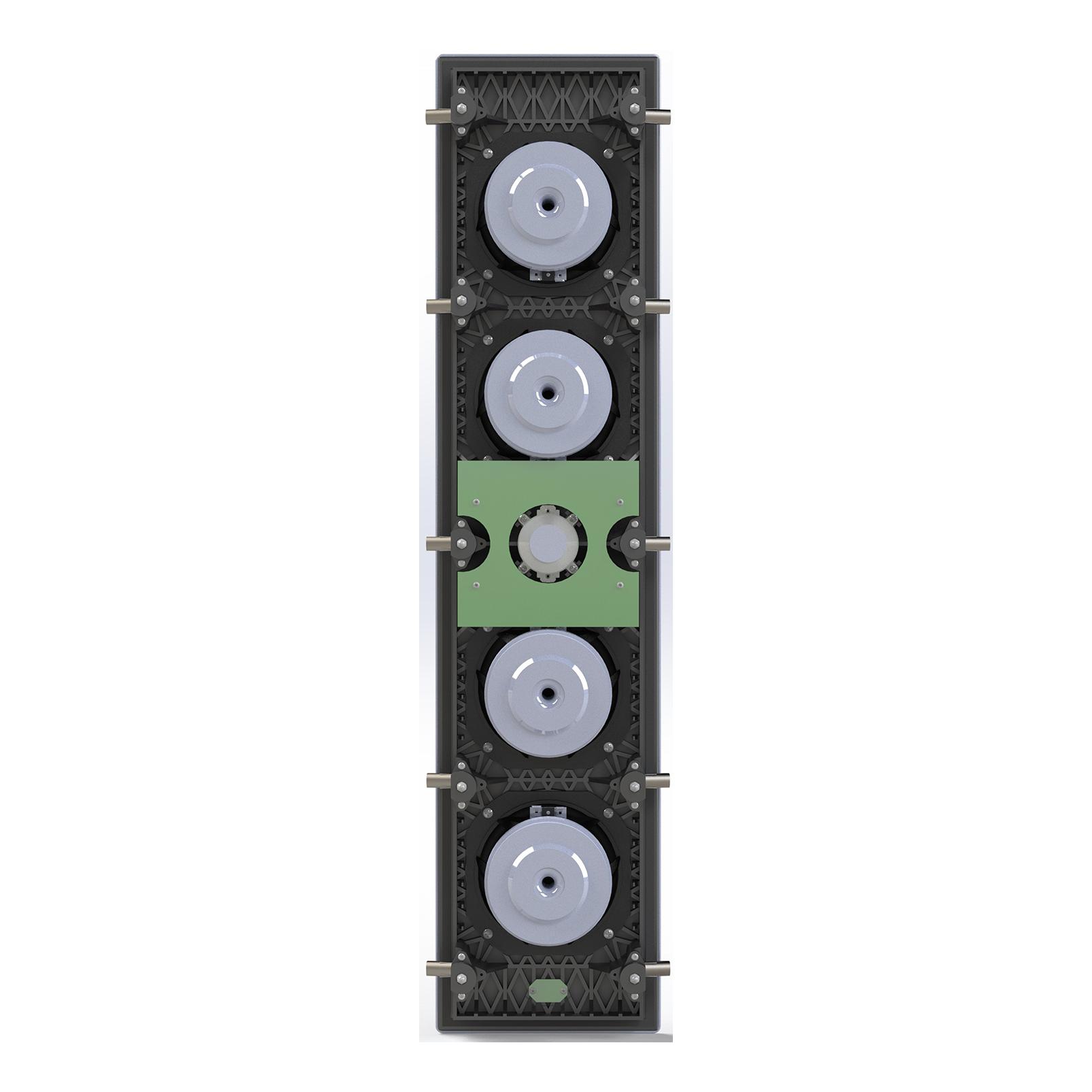 SCL-6 - Black - 2.5-Way Quadruple 5.25-inch (130mm) In-Wall Loudspeaker - Back