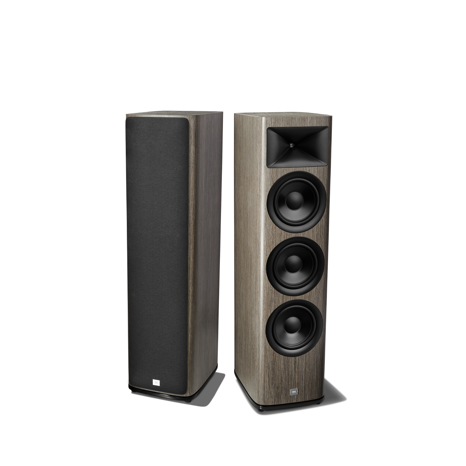 HDI-3800 - Grey Oak - 2 ½-way Triple 8-inch (200mm) Floorstanding Loudspeaker - Detailshot 1