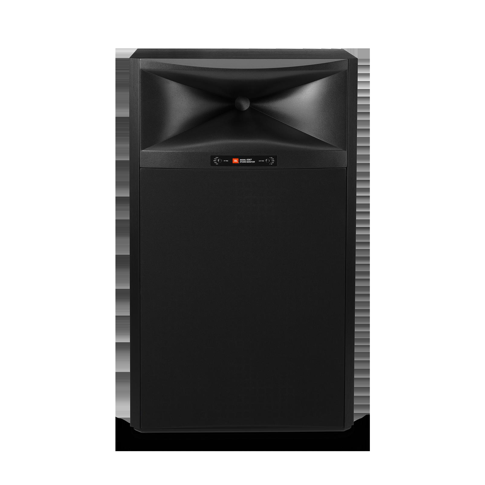 """4367 - Black - 15"""" (380mm) 2-way Floorstanding Studio Monitor Loudspeaker - Front"""