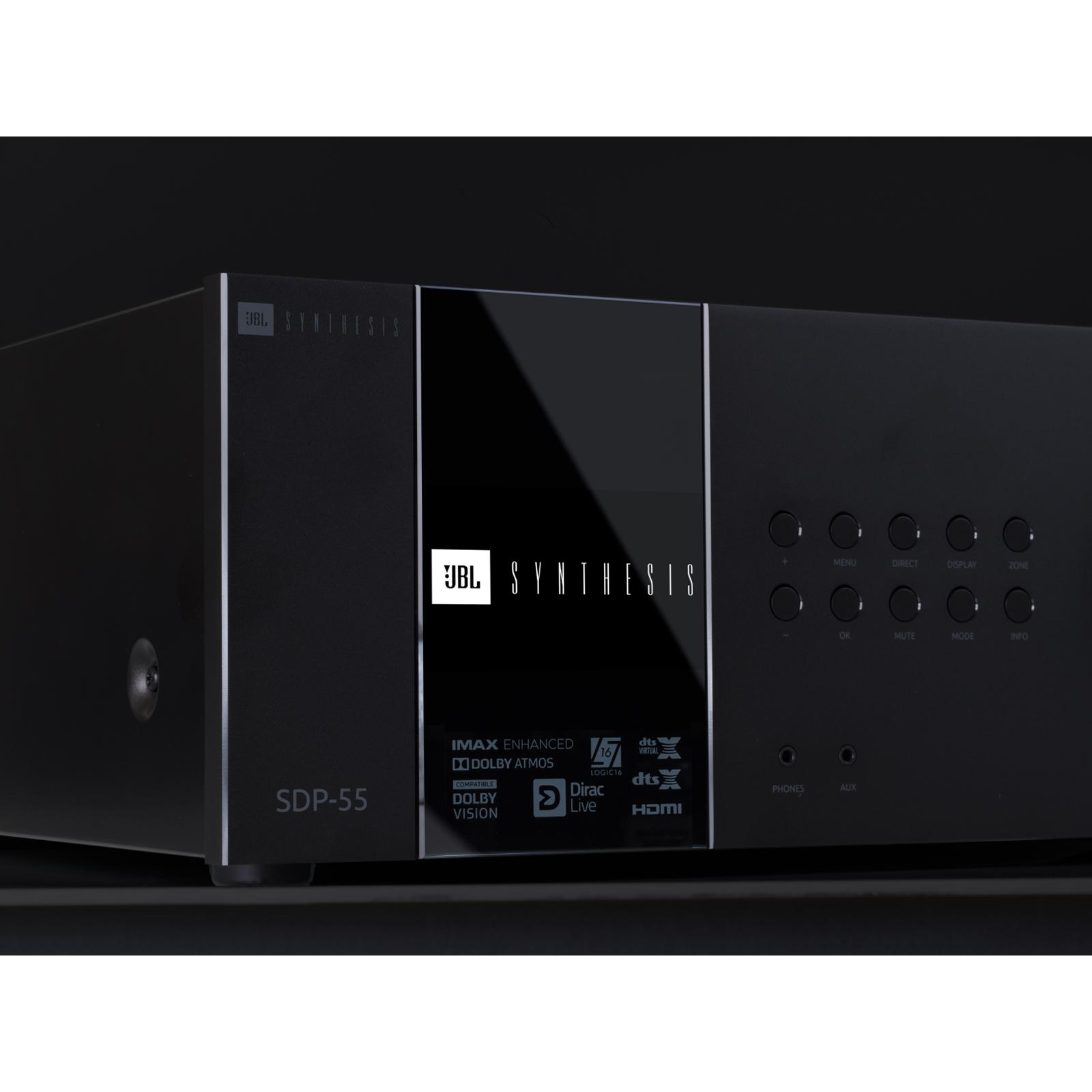 SDP-55 - Black - 16 Ch. Immersive Surround Sound Processor with Dante - Detailshot 1