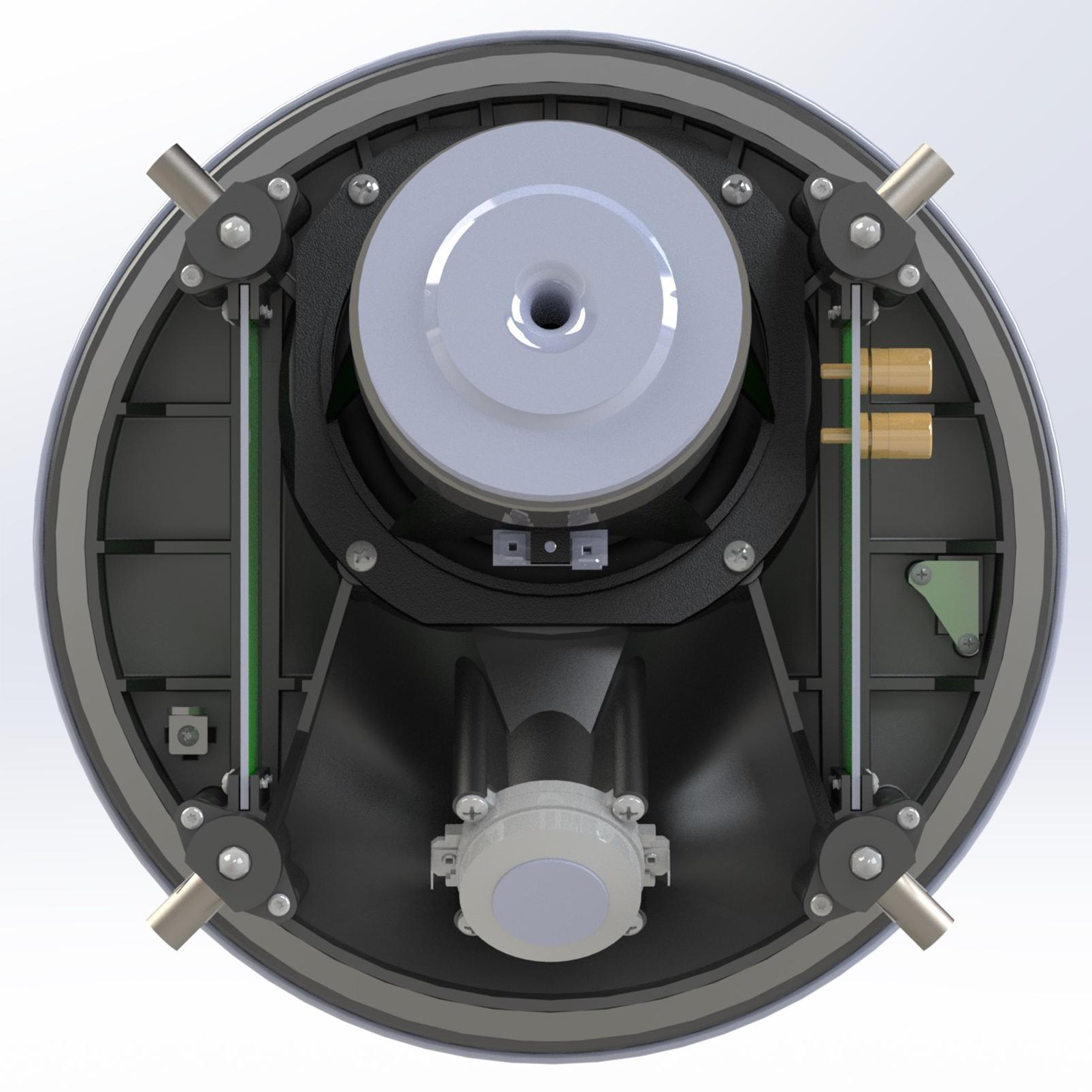 SCL-8 - Black - 2-Way 5.25-inch (130mm) In-Ceiling Loudspeaker - Back
