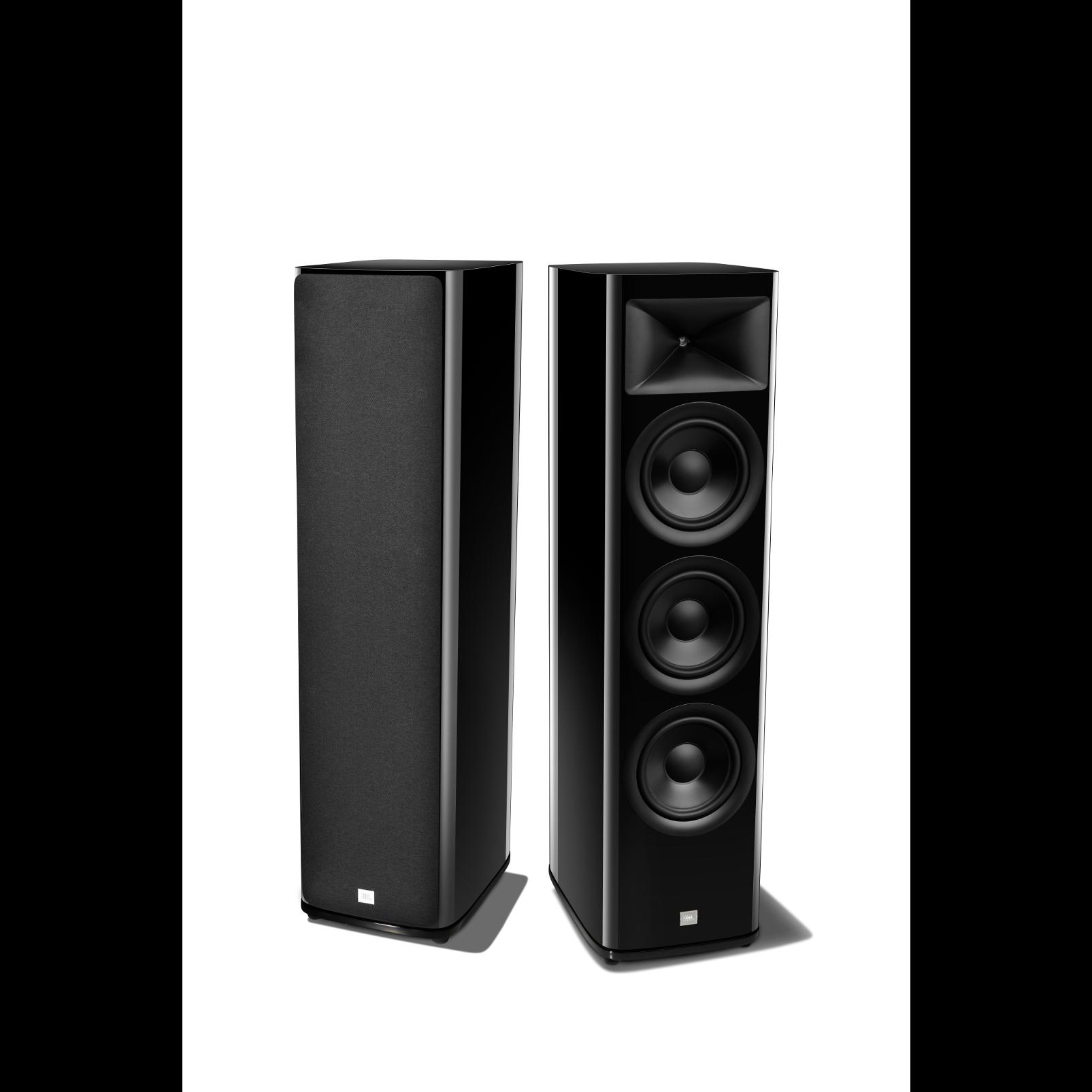 HDI-3800 - Black Gloss - 2 ½-way Triple 8-inch (200mm) Floorstanding Loudspeaker - Detailshot 1