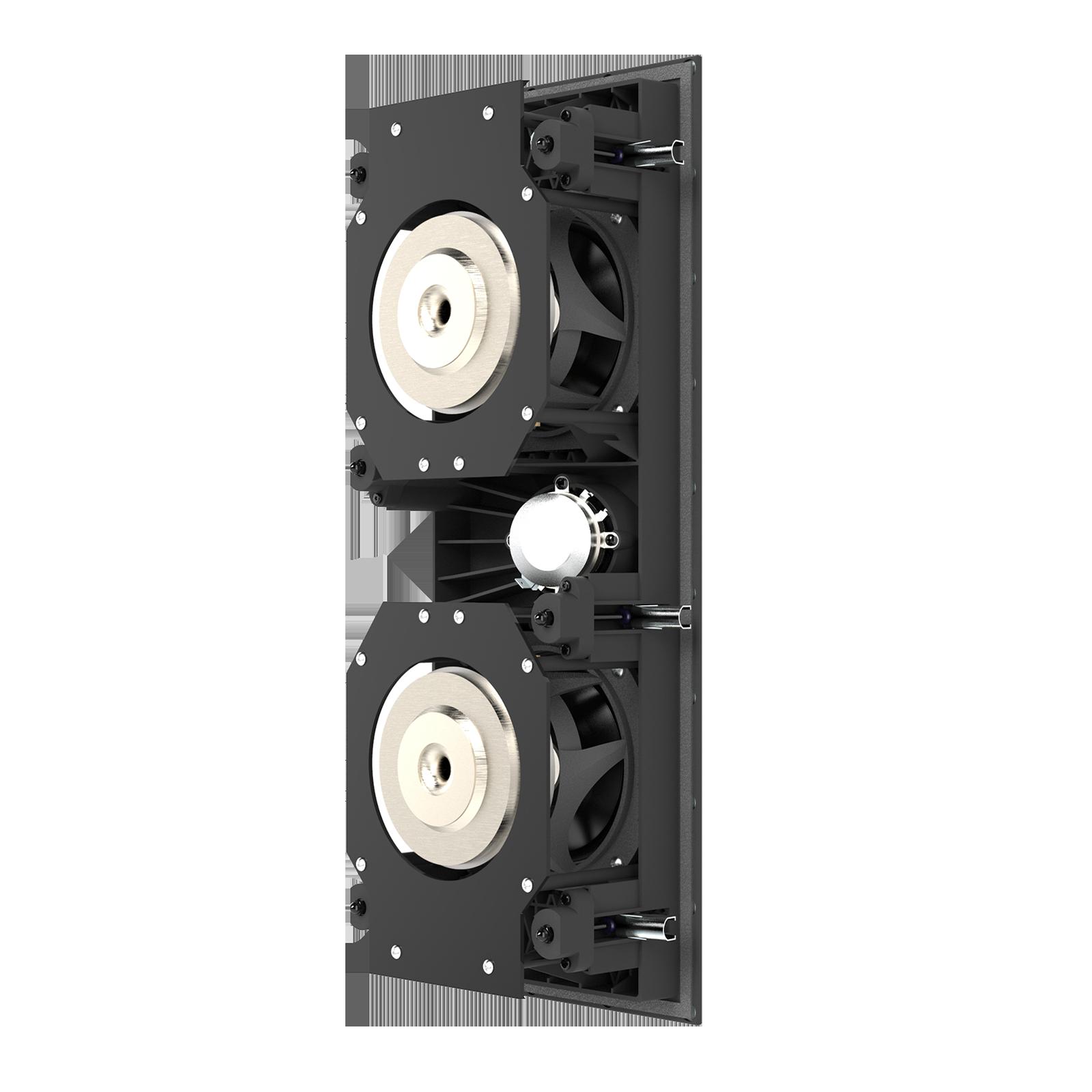 SCL-7 - Black - 2-Way Dual 5.25-inch (130mm) In-Wall Loudspeaker - Back