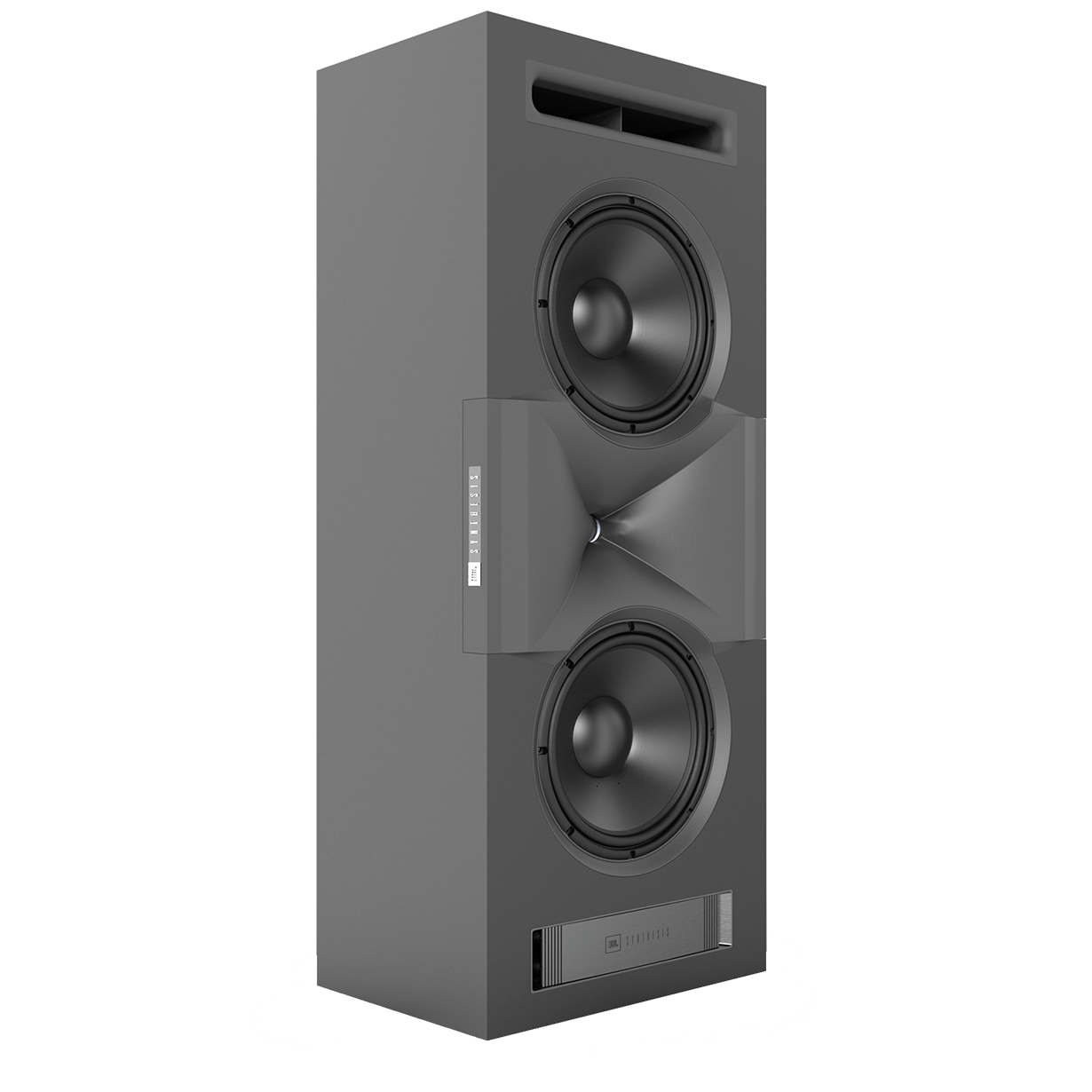 SCL-1 - Black - 2-Way Dual 12-inch (300mm) Custom LCR Loudspeaker - Hero
