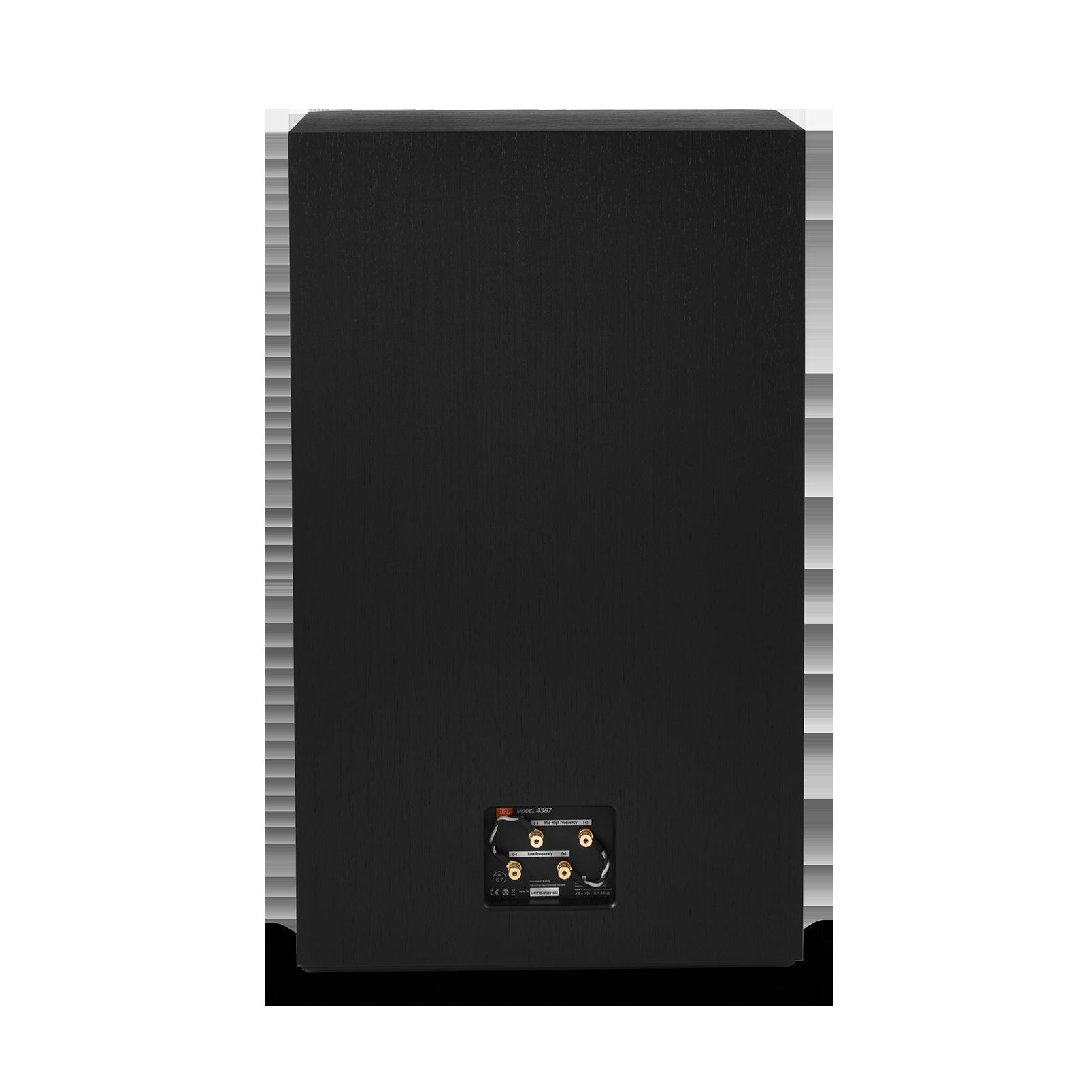 "4367 - Black - 2-way 15"" (380mm) Floorstanding Studio Monitor Loudspeaker - Back"