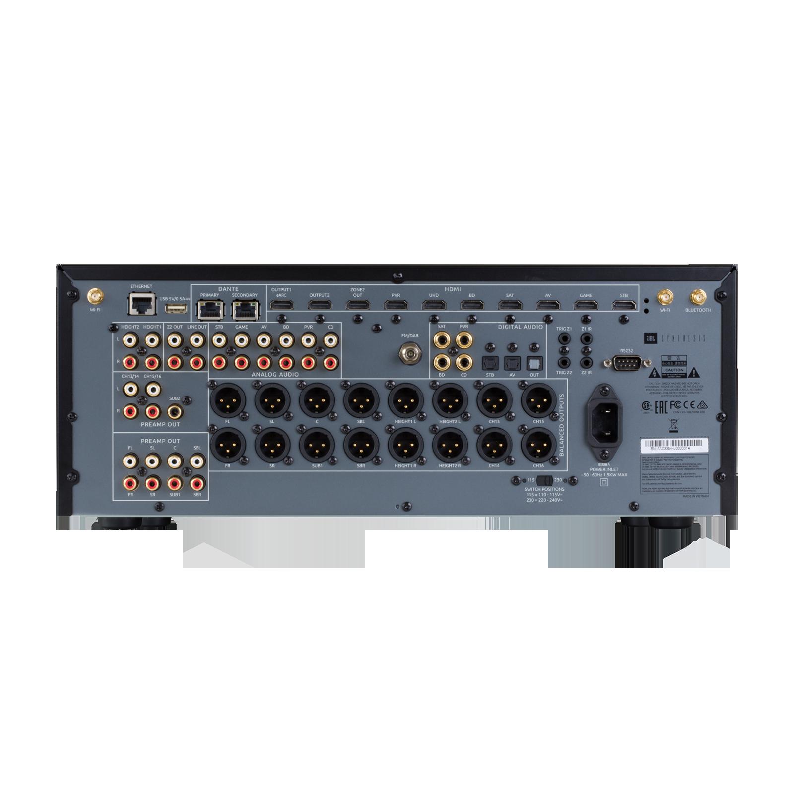 SDP-55 - Black - 16 Ch. Immersive Surround Sound Processor with Dante - Back