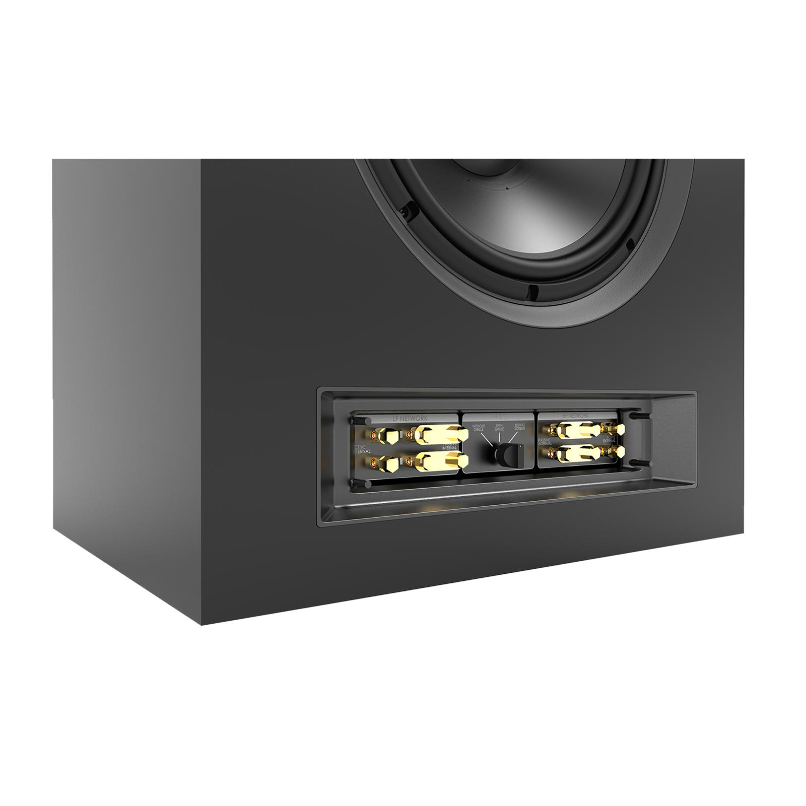 SCL-1 - Black - 2-Way Dual 12-inch (300mm) Custom LCR Loudspeaker - Detailshot 3