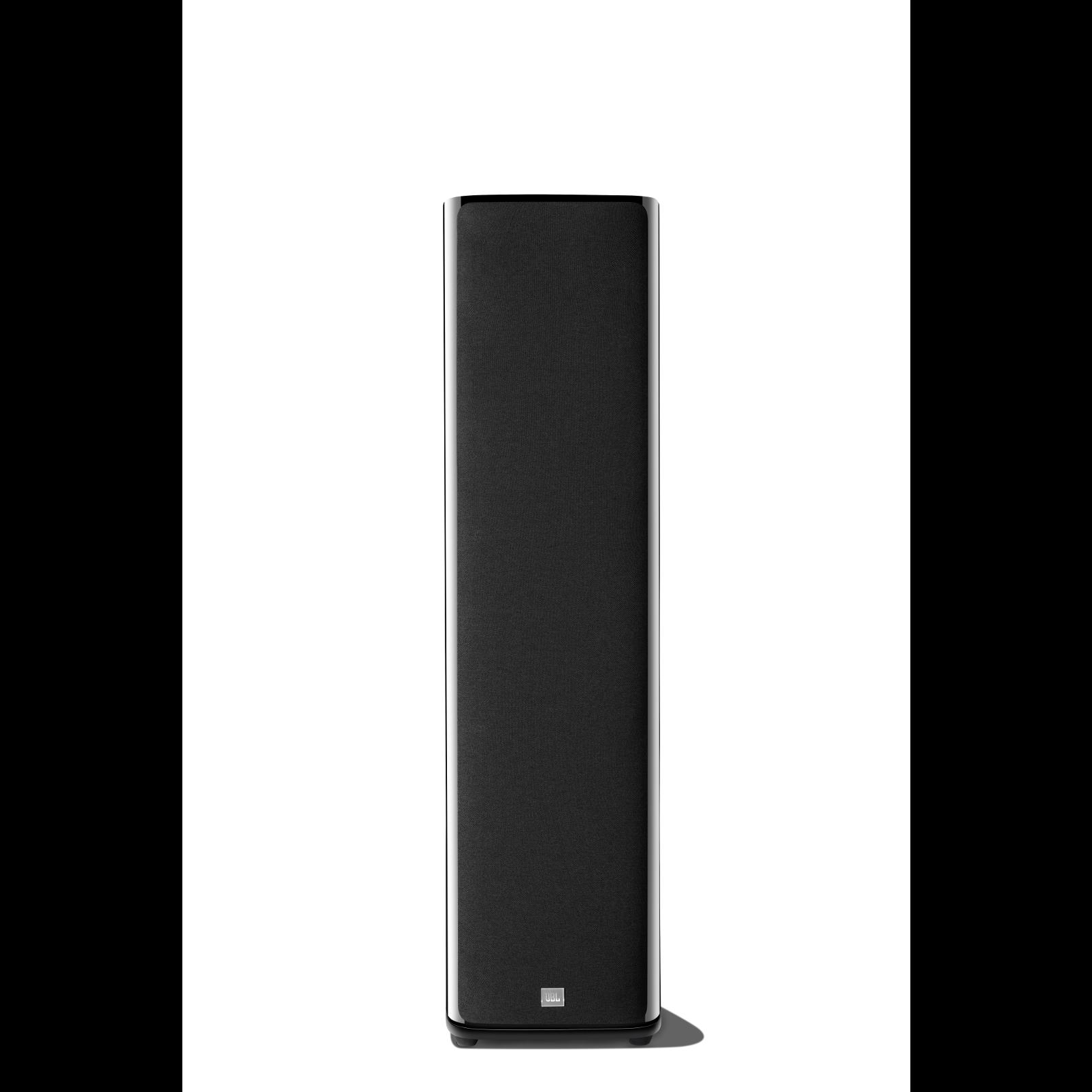 HDI-3800 - Black Gloss - 2 ½-way Triple 8-inch (200mm) Floorstanding Loudspeaker - Front