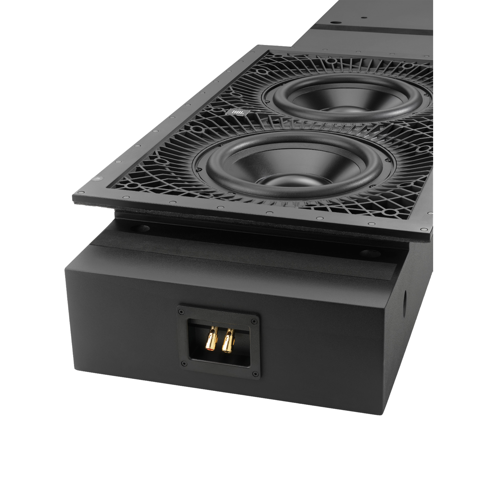 "SSW-3 - Black - Dual 10"" (250mm) In-wall Passive Subwoofer - Detailshot 1"