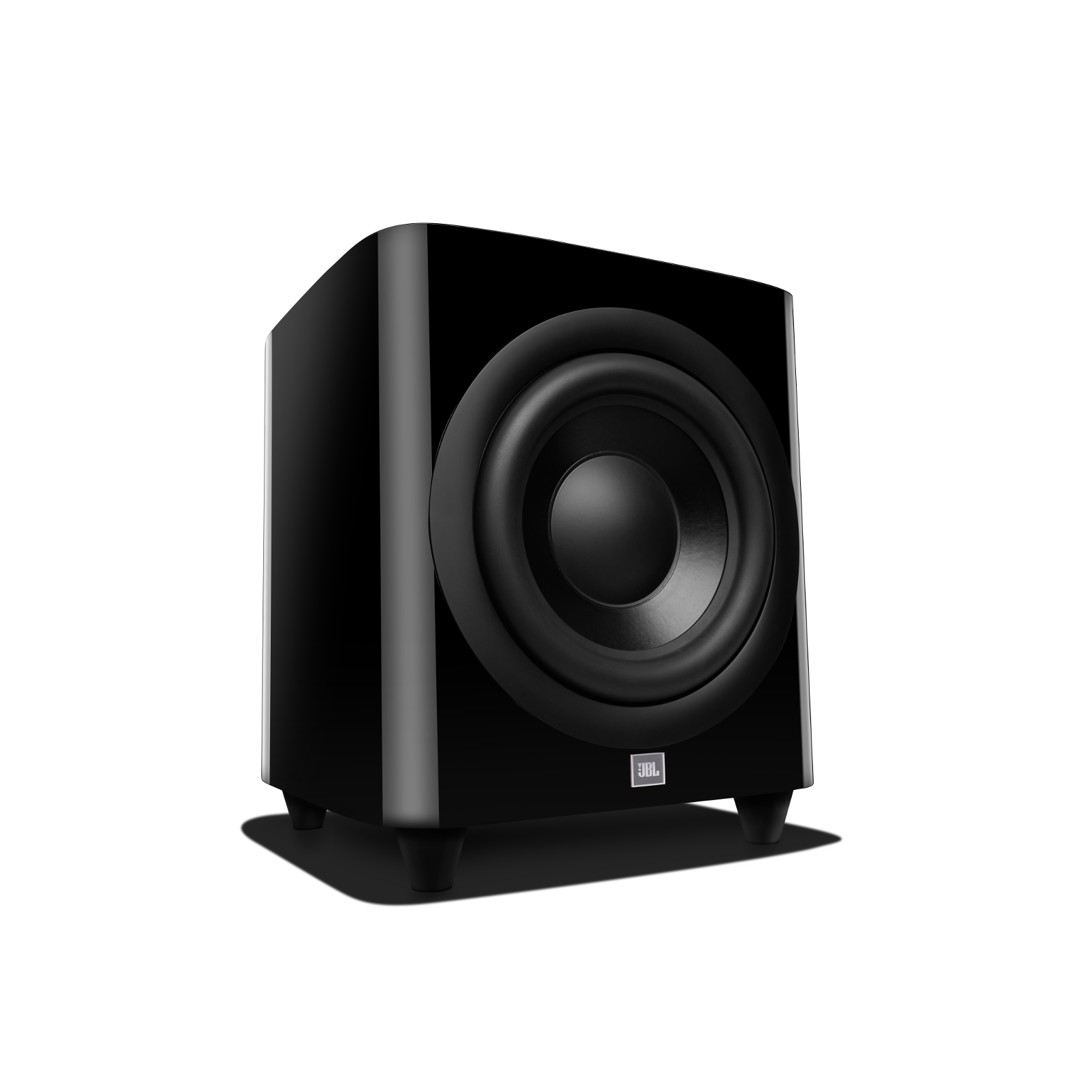 HDI-1200P - Black Gloss - 12-inch (300mm) 1,000W Powered Subwoofer - Front