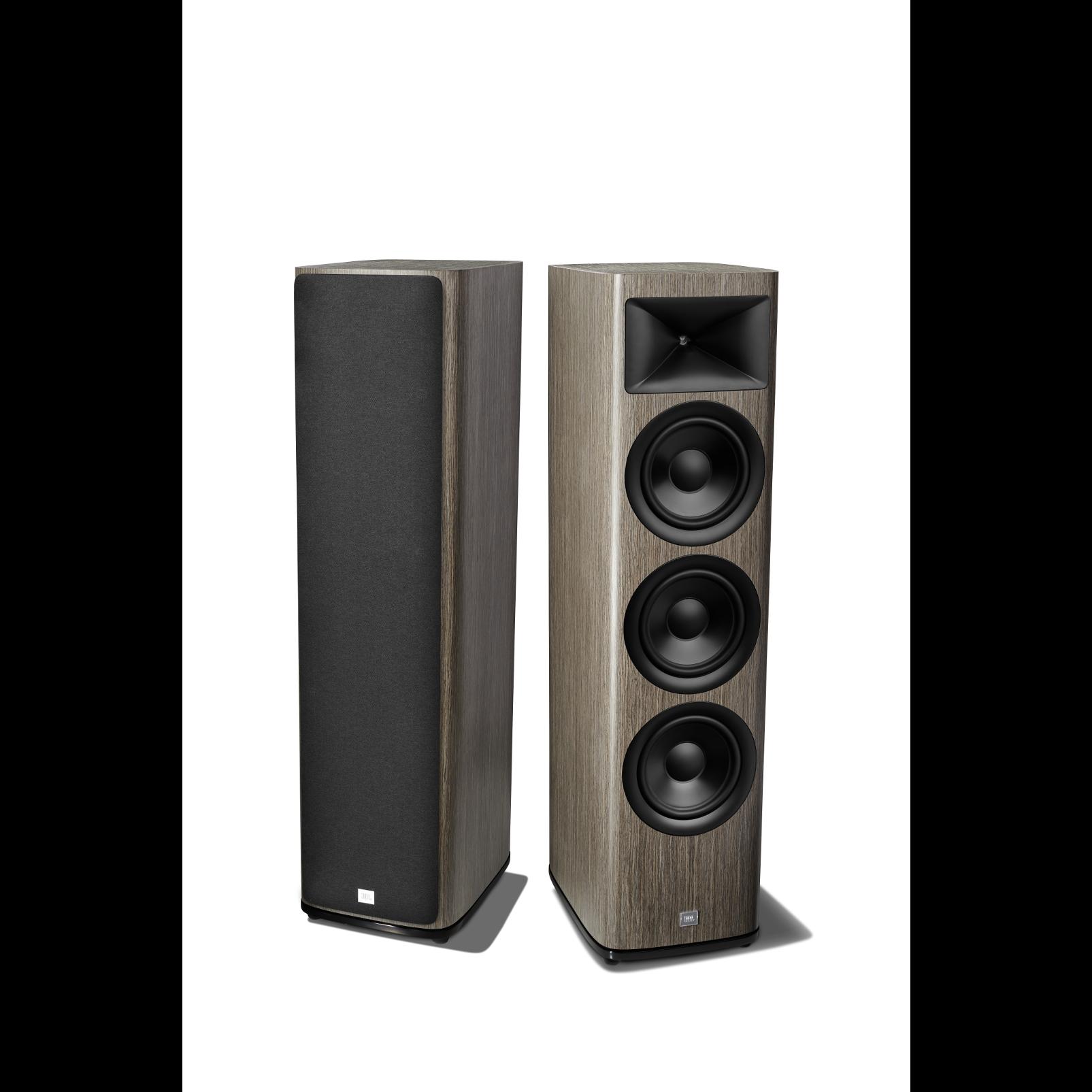 HDI-3800 - Grey Oak - 2 ½-way Triple 8-inch (200mm) Floorstanding Loudspeaker - Detailshot 1
