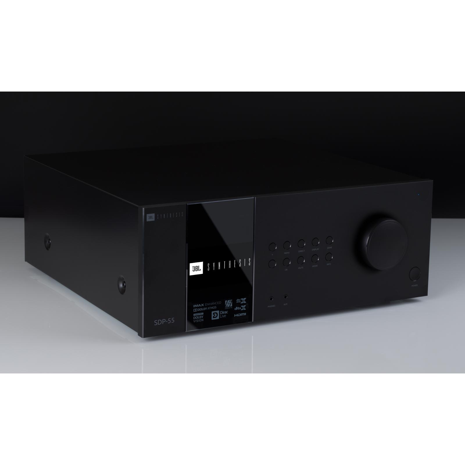 SDP-55 - Black - 16 Ch. Immersive Surround Sound Processor with Dante - Front