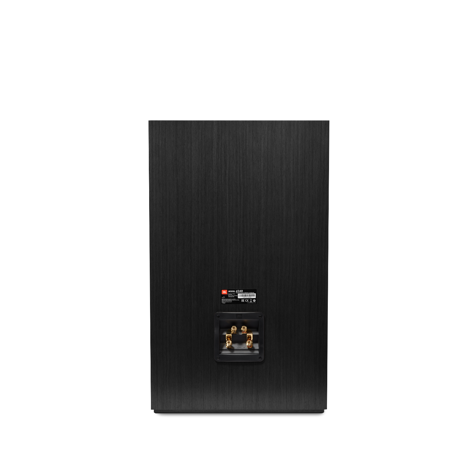 4349 - Black - 12-inch (300mm) 2-way Studio Monitor Loudspeaker - Back