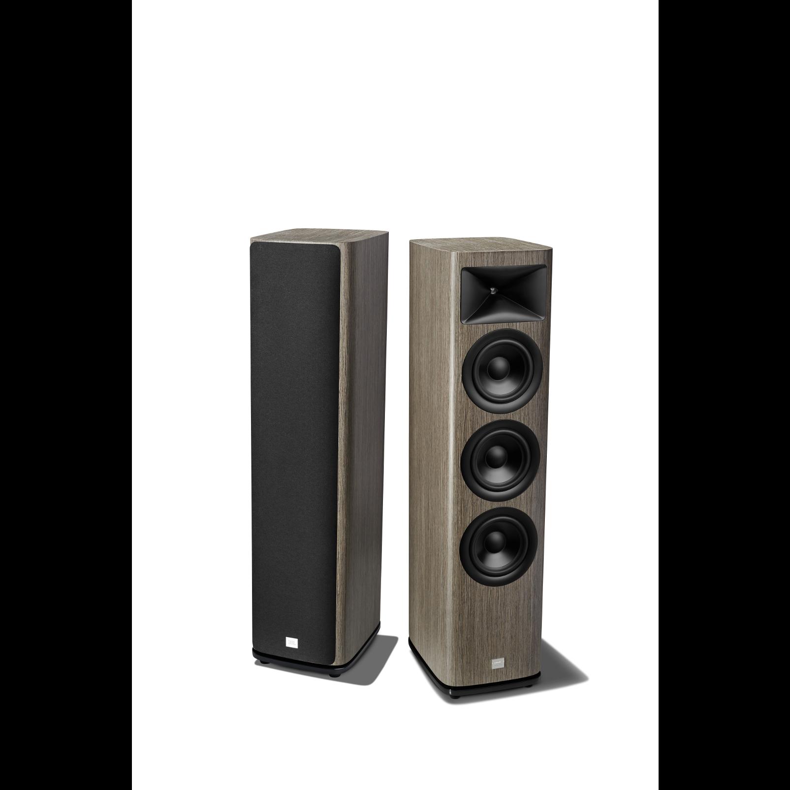 HDI-3600 - Grey Oak - 2 ½-way Triple 6.5-inch (165mm) Floorstanding Loudspeaker - Detailshot 1