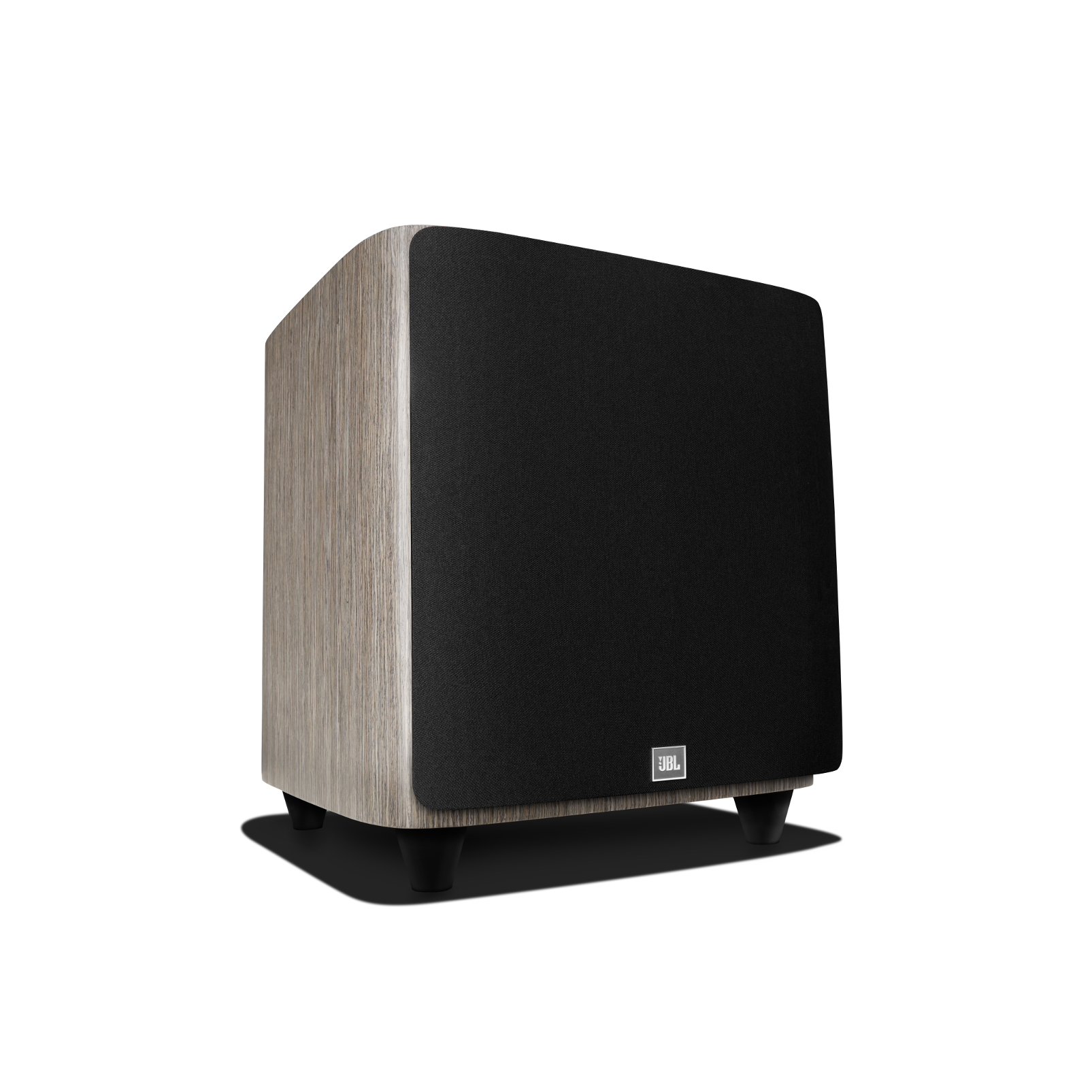 HDI-1200P - Grey Oak - 12-inch (300mm) 1000W Powered Subwoofer - Front