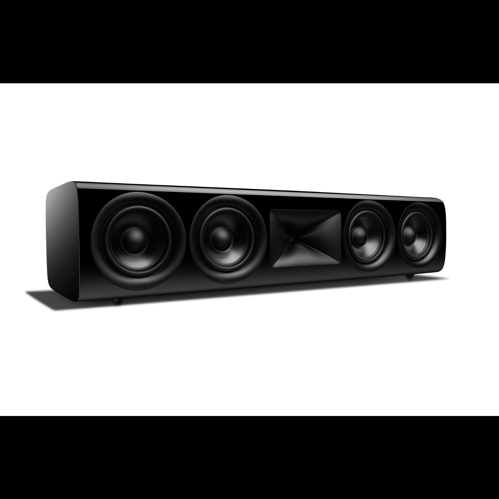 HDI-4500 - Black Gloss - 2 ½-way Quadruple 5.25-inch (130mm) Center Channel Loudspeaker - Left