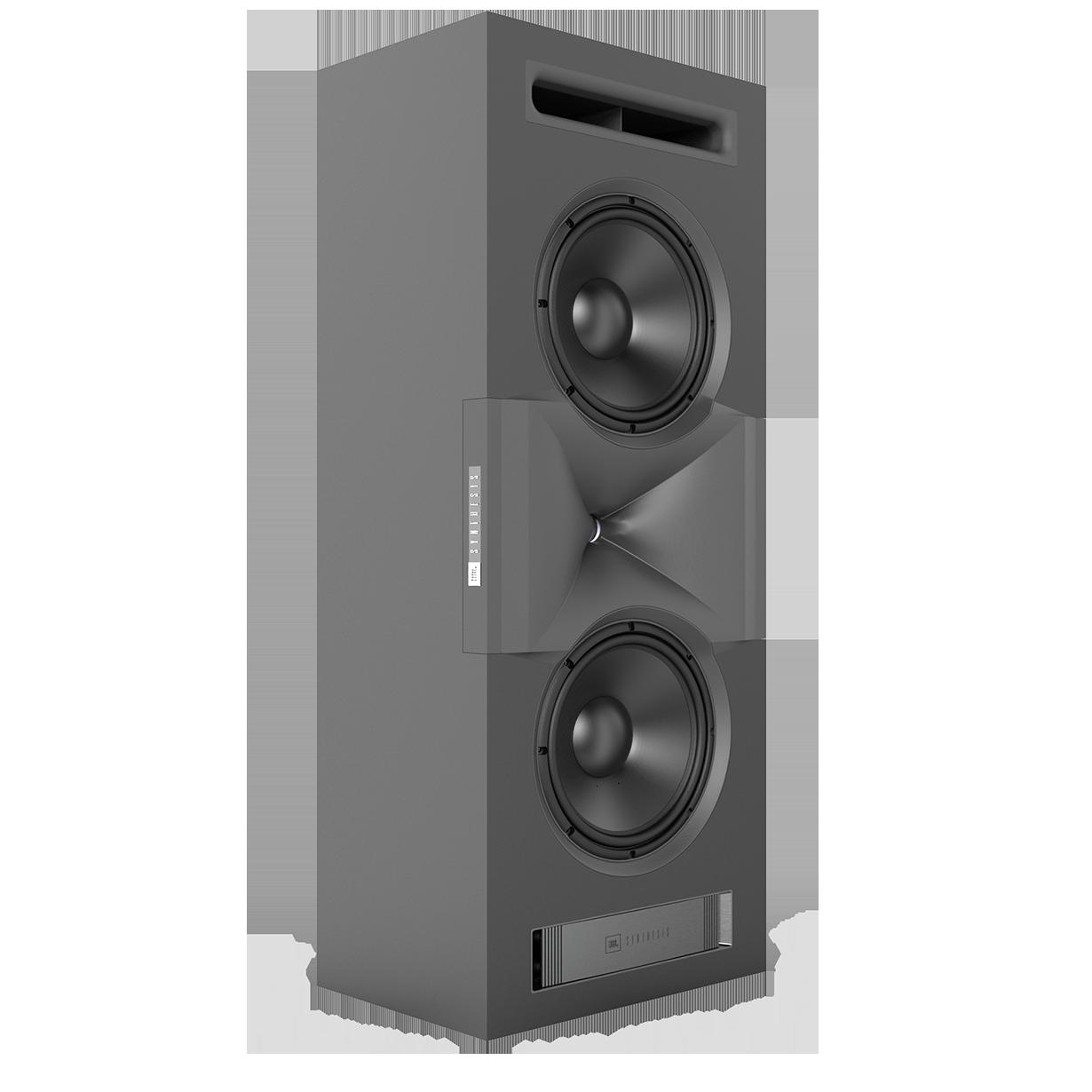 SCL-1 - Black - 2-Way Dual 12-inch (300mm) Custom LCR Loudspeaker - Hero