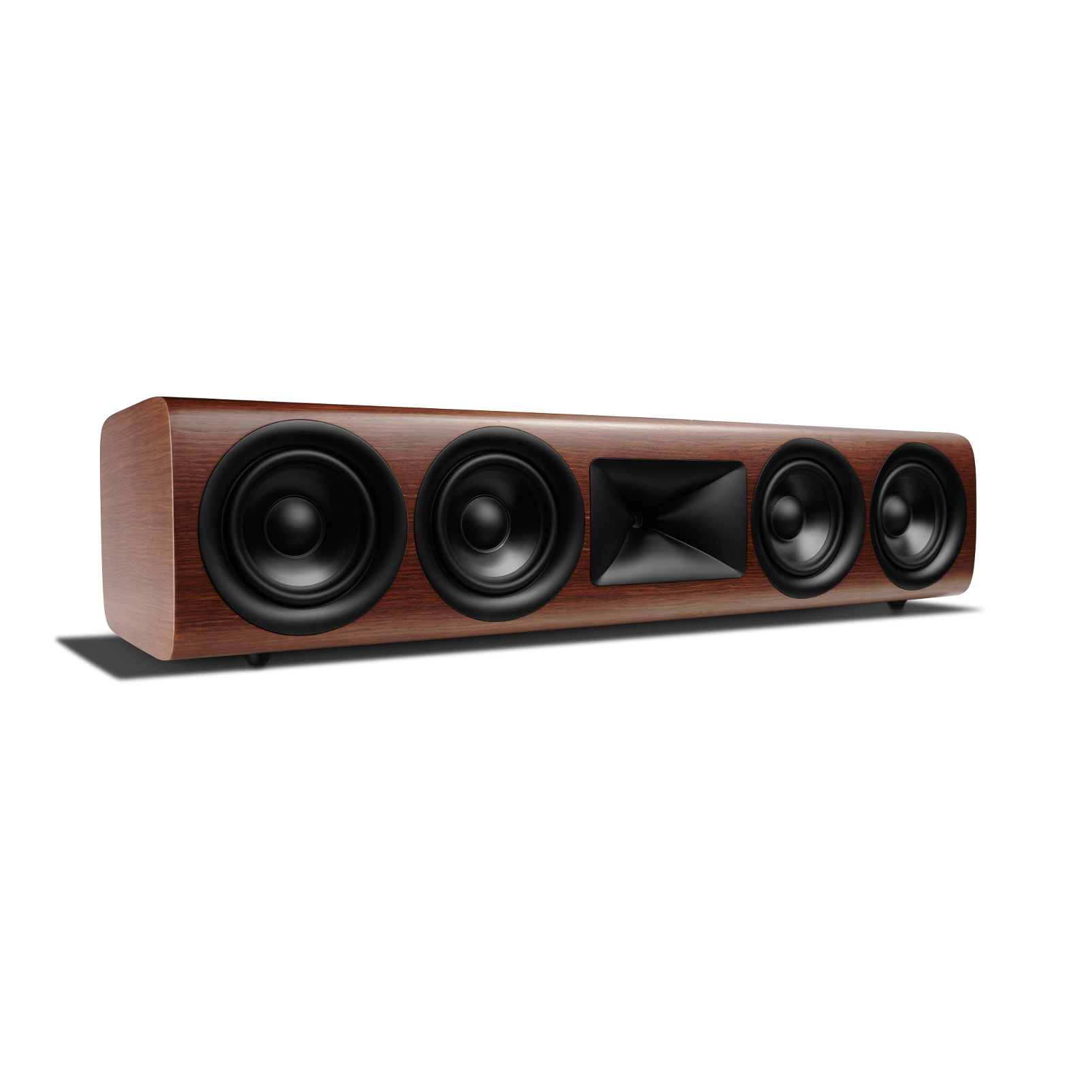 HDI-4500 - Walnut - 2 ½-way Quadruple 5.25-inch (130mm) Center Channel Loudspeaker - Left